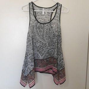 Tops - Chiffon print blouse